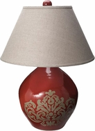 Lazy Susan 223077 Garnet Damask Red Lighting Table Lamp