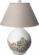 Lazy Susan 223086 Milk Damask White Table Lamp
