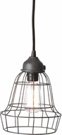 Lazy Susan 225032 Wire Barrel Retro Brown Mini Hanging Lamp