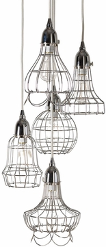 Lazy Susan 225039 Wire Modern Silver Multi Hanging Light