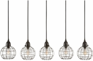 Lazy Susan 225064 Modern Black Multi Hanging Pendant Light
