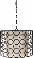 Lazy Susan 466002 Weathered Drum Gray Oval Ring Gray Pendant Light