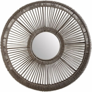 Lazy Susan 466027 Wicker Spoke Gray Mirror