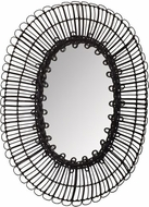 Lazy Susan 466028 Bobbin Black Wall Mounted Mirror