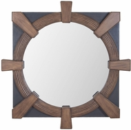 Lazy Susan 7011-1027 Flatiron Weathered Mahoghany, Antique Smoke Wall Mirror