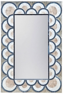 Lazy Susan 7163-071 Natural Capiz, Navy Blue Wall Mounted Mirror