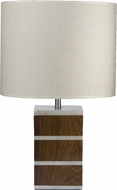 Lazy Susan 786012 Sliced Alabaster And Shesham Brown Table Lamp Lighting
