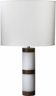Lazy Susan 786013 Alabaster And Shesham Column White & Black Table Top Lamp