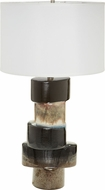 Lazy Susan 857135 Stacked Oval Modern Black Metallic Table Lamp