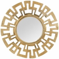 Lazy Susan 8990-016 Meandros Wall Mirror Modern Antique Gold Mirror