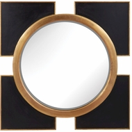 Lazy Susan 985-004 Contemporary Black, Gold Wall Mirror
