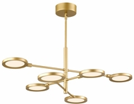 LBL CH1033GDLED930 Spectica Modern Satin Gold LED Chandelier Lamp