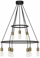 LBL CH1077BLABLED927 Tae Modern Black / Aged Brass LED Ceiling Chandelier