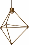 LBL CH946ABLEDWD Candora Modern Aged Brass LED Mini Chandelier Light