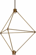 LBL CH947ABLEDWD Candora Contemporary Aged Brass LED Chandelier Lamp