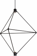 LBL CH948BLLEDWD Candora Contemporary Black LED Chandelier Light