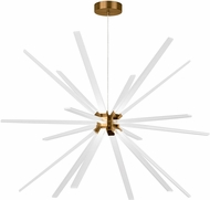LBL CH997ABLED930 Photon Contemporary Aged Brass LED Chandelier Lamp