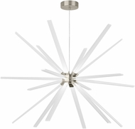 LBL CH997SCLED930 Photon Modern Satin Nickel LED Chandelier Light