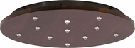 LBL CK011BD-FJ-MT Fusion Jack Track Light Wood Canopy 11 Light Round