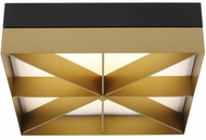 LBL FM1058BLGDLED930 Loom Contemporary Black / Gold LED Flush Mount Lighting