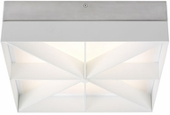 LBL FM1058SCWHLED930 Loom Modern Satin Nickel / White LED Overhead Lighting