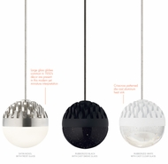 LBL HS848 Sphere Contemporary Satin Nickel LED Low-Voltage Mini Pendant Light