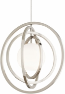 LBL HS994WHSCLEDS830 Oreon Modern Satin Nickel LED Pendant Lighting