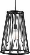 LBL LP1038BLLED830 Diamant Contemporary Matte Black LED Hanging Lamp