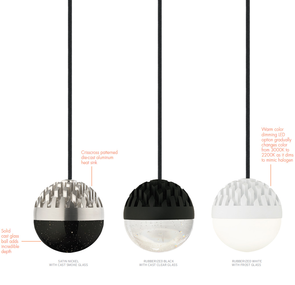 LBL LP849 Sphere Modern LED Mini Line-Voltage Pendant Hanging Light. Loading zoom  sc 1 st  Affordable L&s & LBL LP849 Sphere Modern LED Mini Line-Voltage Pendant Hanging ... azcodes.com