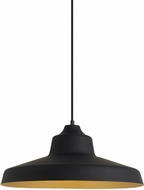 LBL LP955BLGDLED830 Zevo Modern Black/Gold LED Pendant Light Fixture