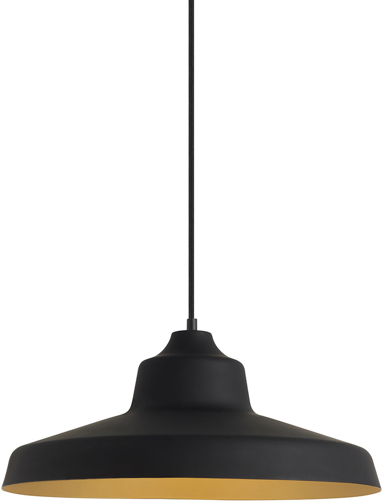 LBL LP955BLGDLED830 Zevo Modern Black Gold LED Pendant