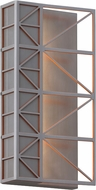 LBL OD771AOLEDW East River Contemporary Brushed Aluminum / Orange LED Exterior Wall Lamp
