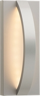 LBL OD818SILEDW Hunter Contemporary Silver LED Exterior Wall Light Sconce