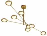 LBL SU1034GDLED930 Spectica Modern Satin Gold LED Kitchen Island Lighting
