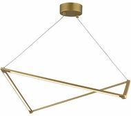 LBL SU1036GDLED930 Balto Contemporary Satin Gold LED Kitchen Island Light