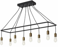 LBL SU1079BLABLED927 Tae Modern Black / Aged Brass LED Island Lighting