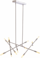 LBL SU952SCLED922 Line Wave Modern Satin Nickel LED Kitchen Island Lighting