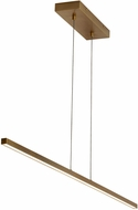 LBL SU992ABLED930 Essence Contemporary Aged Brass LED Kitchen Island Light