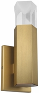 LBL WS1040ABLEDWD Krypton Contemporary Aged Brass LED Sconce Lighting