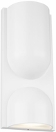 LBL WS1067WHLEDWDW Savino Contemporary Matte White LED Wall Sconce Lighting