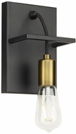 LBL WS1080BLABLED927 Tae Contemporary Black / Aged Brass LED Lighting Wall Sconce