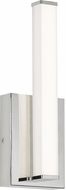 LBL WS987OYPCLED Lufe Contemporary Polished Chrome LED Wall Sconce Light