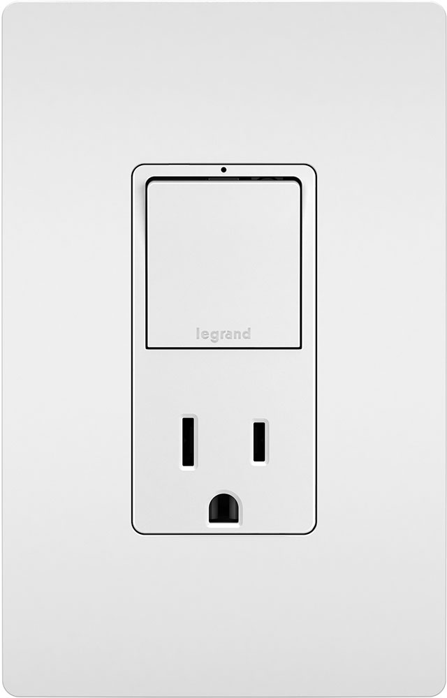 legrand radiant rcd38trw modern white single