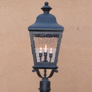 Lighting Innovations 1245 Traditional Exterior 10.3  Wide x 28.5  Tall Post Lamp