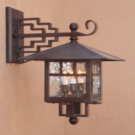 Lighting Innovations 3004 Outdoor 14  Wide x 17.8  Tall Lamp Sconce