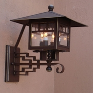 Lighting Innovations 3104 Outdoor 14  Wide x 17.8  Tall Wall Lighting Sconce