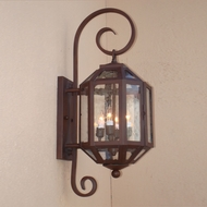 Lighting Innovations BP2201 Exterior 8  Wide x 24.8  Tall Wall Light Sconce