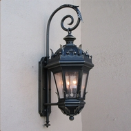 Lighting Innovations BP5816 Traditional Outdoor 19  Wide x 48.3  Tall Wall Lighting Fixture