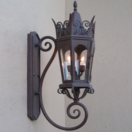 Lighting Innovations BS7013 Traditional Outdoor 14.5  Wide x 37  Tall Wall Sconce Lighting