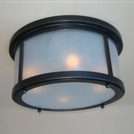 Lighting Innovations C10174 Outdoor 15.8  Wide x 8.1  Tall Flush Mount Ceiling Light Fixture
